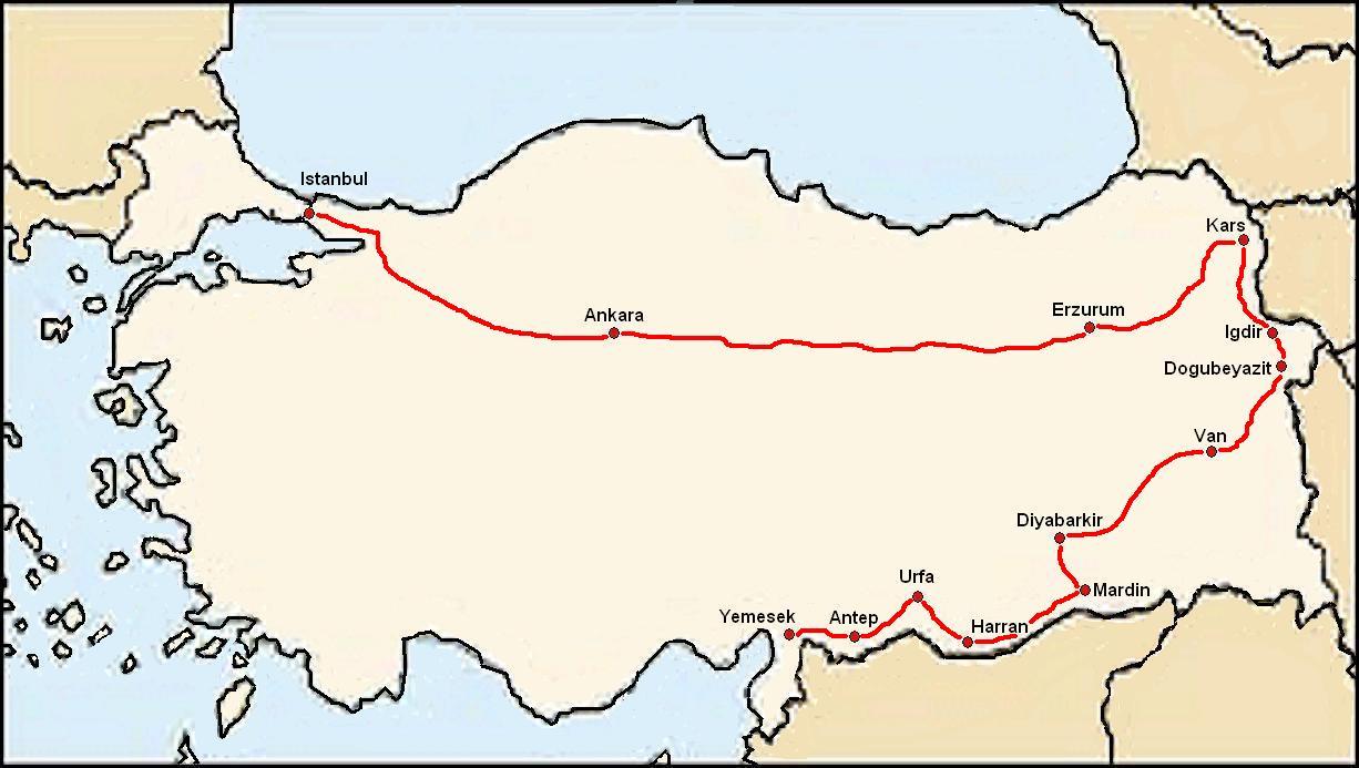 13. harta traseu Turcia