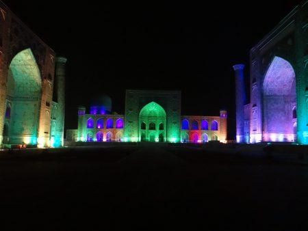 23. Sound and light show Registan