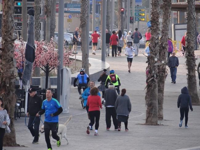 14. Jogging in Tel Aviv