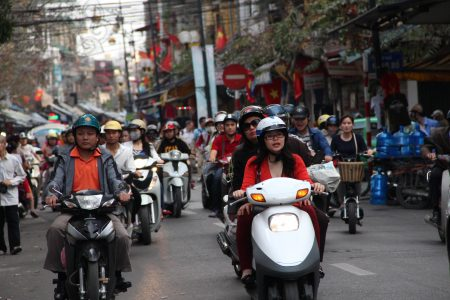 10. Scooters take over Hanoi