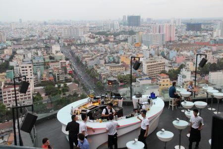 12. Drinks with a view...to HCMC