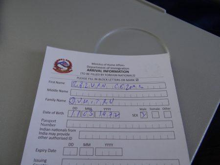02. Formular viza Nepal