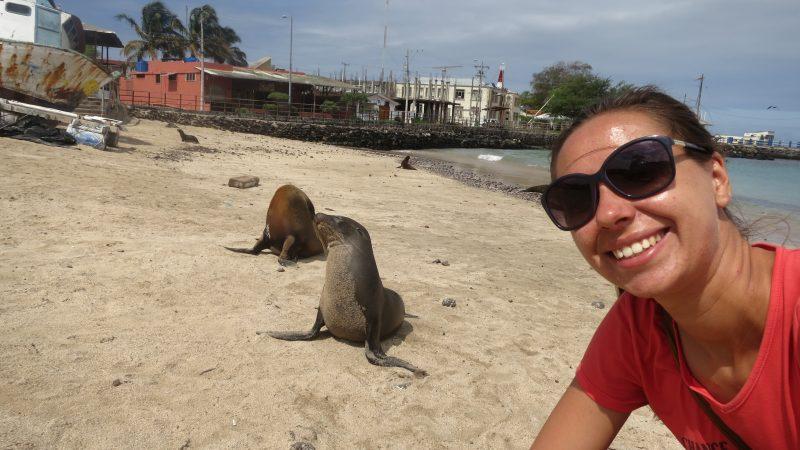 Selfie cu lupii de mare - Galapagos - Ecuador