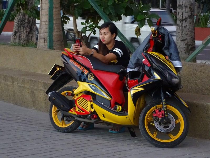 34. Motorbike girl