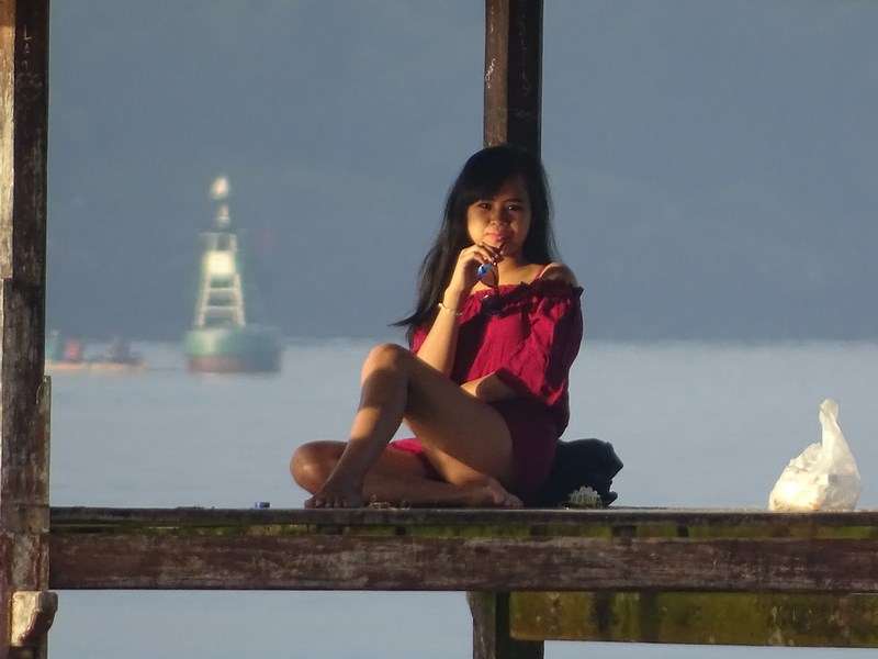 23. Model nud Bali