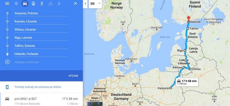 Harta tarile Baltice