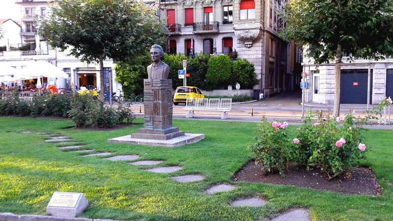 . Statuia Lui Mihai Eminescu In Vevey