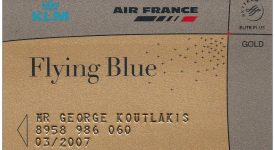 1. Card Flying Blue
