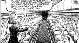 Caricatura Low Cost Airline