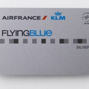 Card Flying Blue Silver