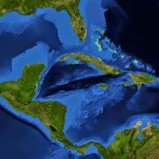 Harta Din Satelit America Centrala