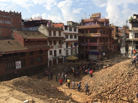 11. Durbar Square in ruine