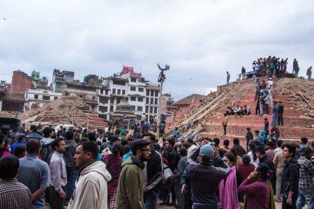 14. Durbar Square in ruine