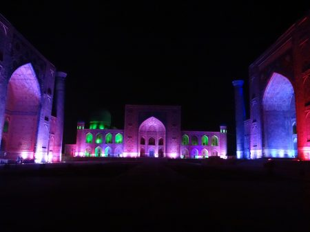 21. Sound and light show Samarkand