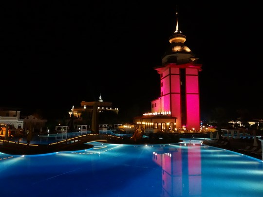 33. Maiden Tower by night