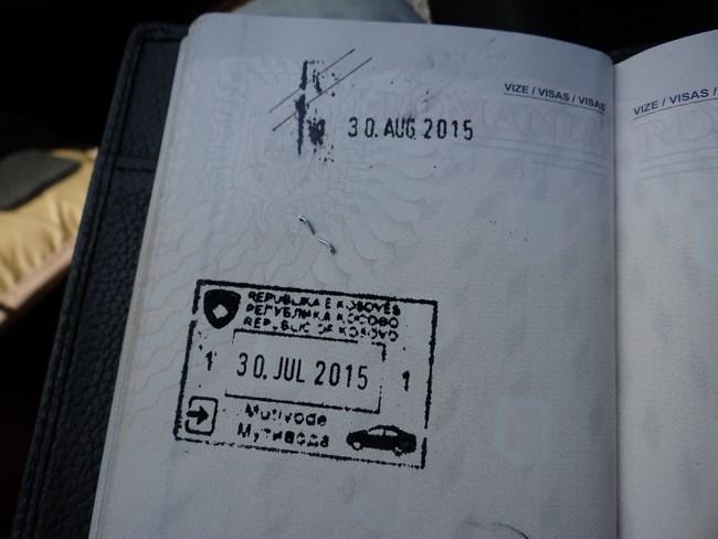07. Stampila intrare Kosovo