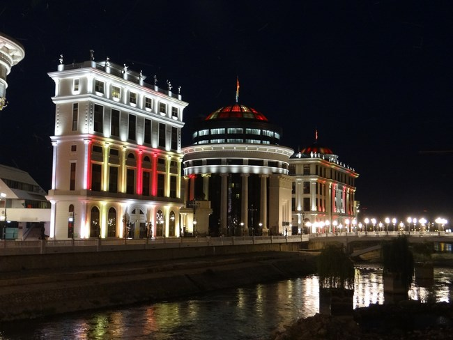 23. Skopje by night