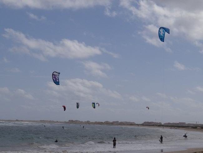18. Kite surfing in Capul Verde