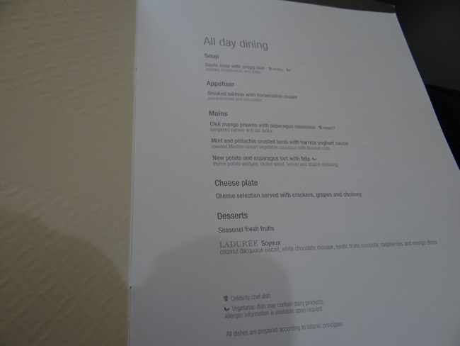 04. Food - business class Qatar Airways