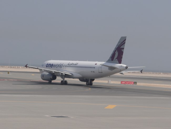 36. Qatar Airways - Doha airport