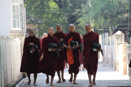 06. Burmese monks going for lunch