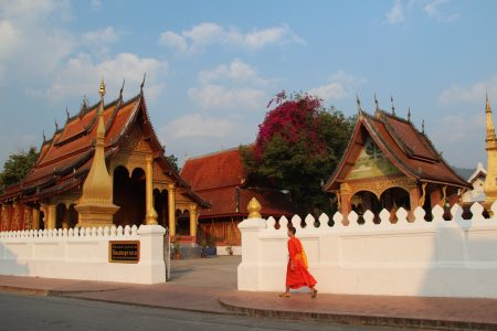 11. Going to scool in Laos
