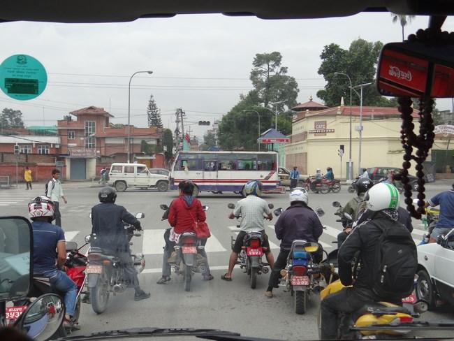 12. Trafic in Kathmandu