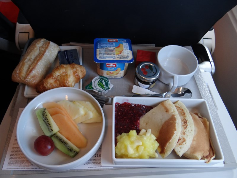 02. Breakfast menu - business class Air France