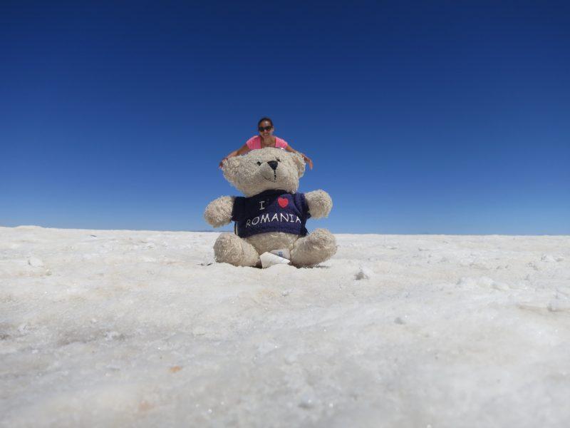 Cu Romie in Salarul Uyuni - Bolivia