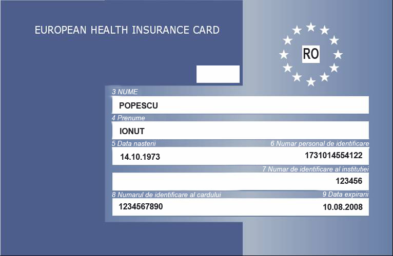European Health Insurance Card Romania