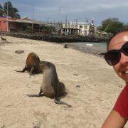 Selfie Cu Lupii De Mare Galapagos Ecuador
