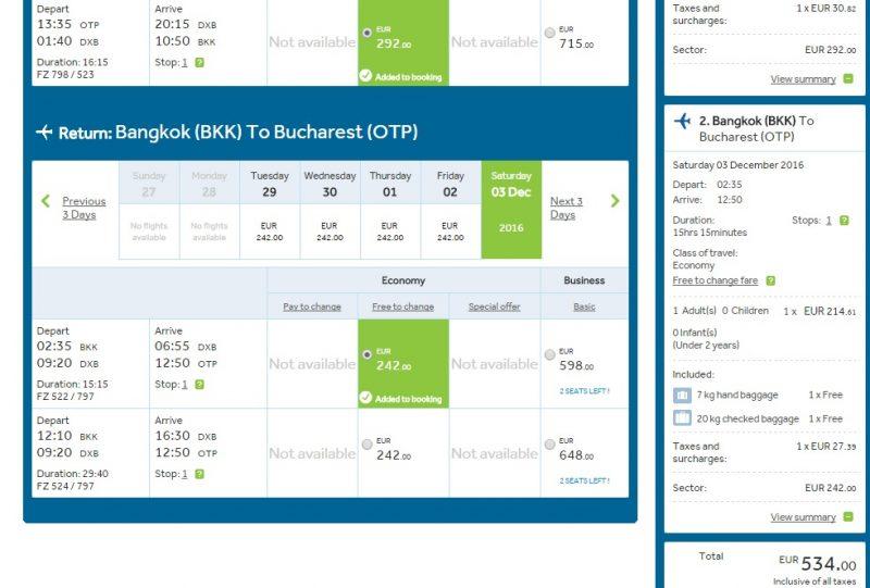 Fly Dubai Bangkok
