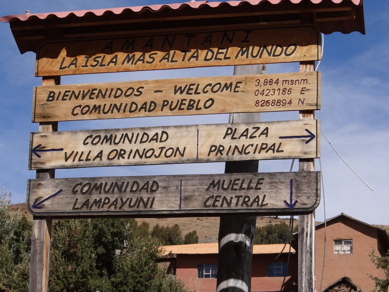 25. Indicatoare Amantani - Titicaca