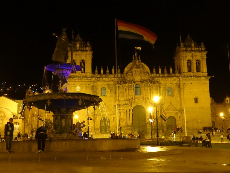 32. Plaza de Armas by night