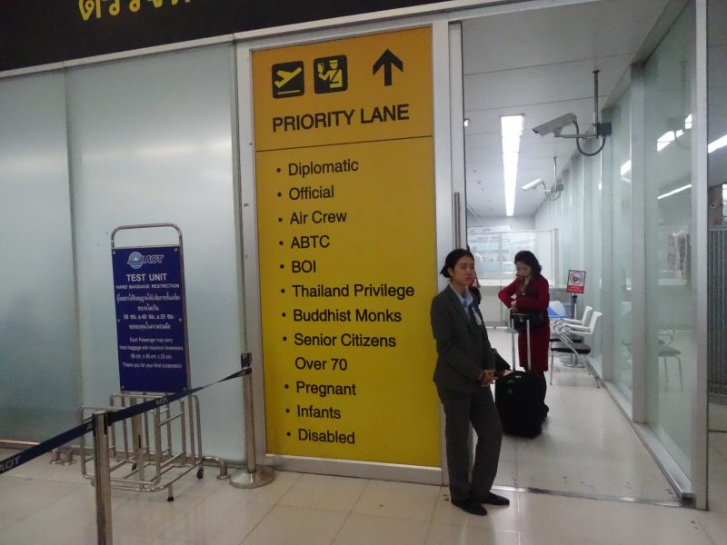 25. Priority lane Bangkok