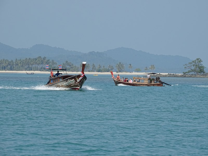 11. Long tail boats