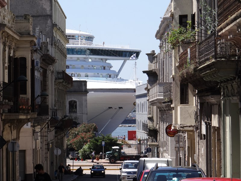 11. Cruise ship in Montevideo