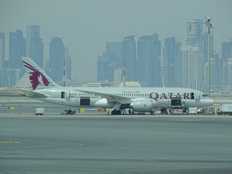 22. Qatar Airways Dreamliner