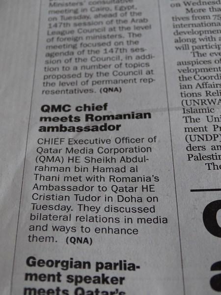 30. Stiri Romania in Qatar