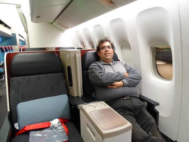 15. B777 Turkish Airlines business class
