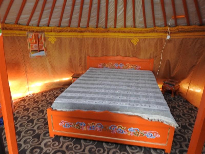 18. Interior iurte mongole