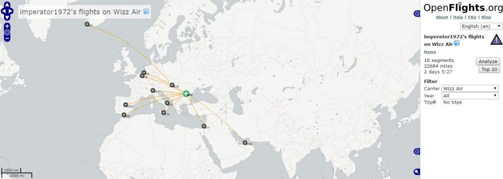 Harta Wizz Air