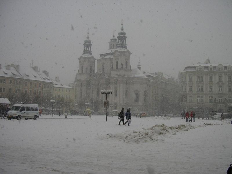 Ninsoare La Praga