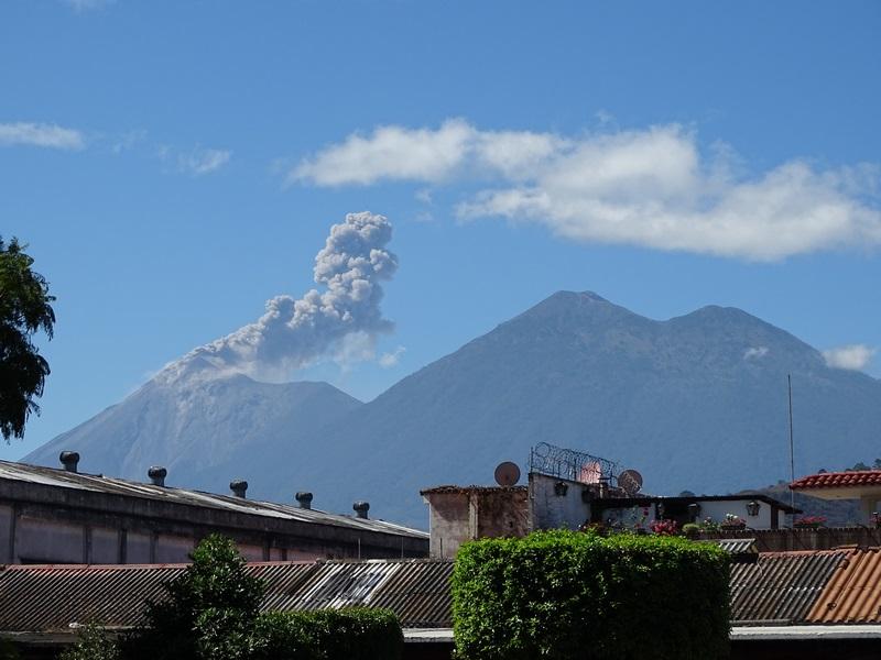 Eruptie Volcano Fuego