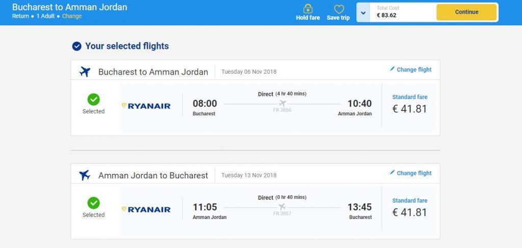 Ryanair Bucuresti Amman