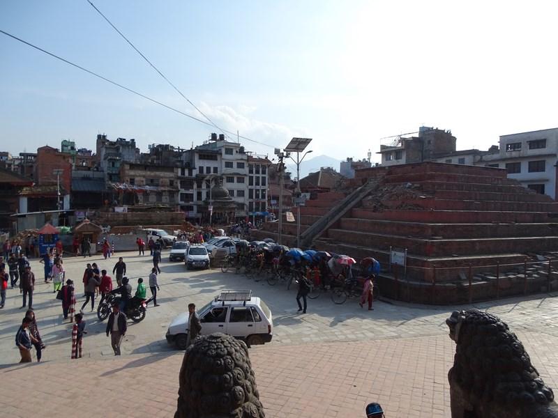 Temple Cazute La Cutremur Kathmandu