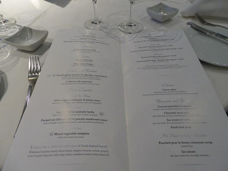 . Restaurant Pe MSC Opera Meniu