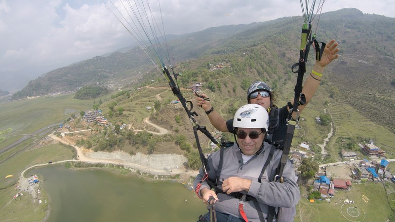 Flying Budda Paraglidiing Pokhara