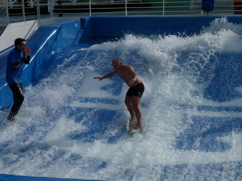 Surfing Royal Carribean
