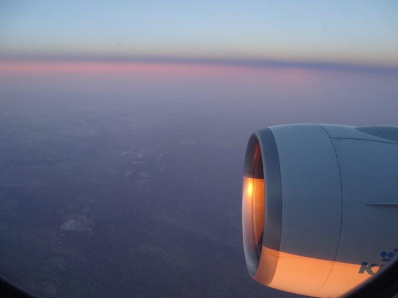 Apus De Soare Pe Motor De Avion